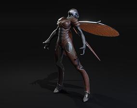 3D model Winged Alien