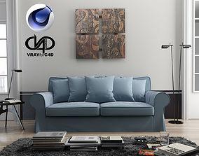 Living Room 2 C4D Vray 3D