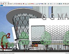 Sketchup Commercial and office complex M3 3D