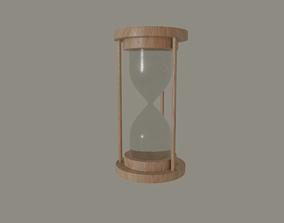 Hourglass 3D model realtime alarm-clock