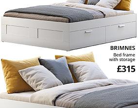 3D model Ikea Brimnes bed 5 scandinavian