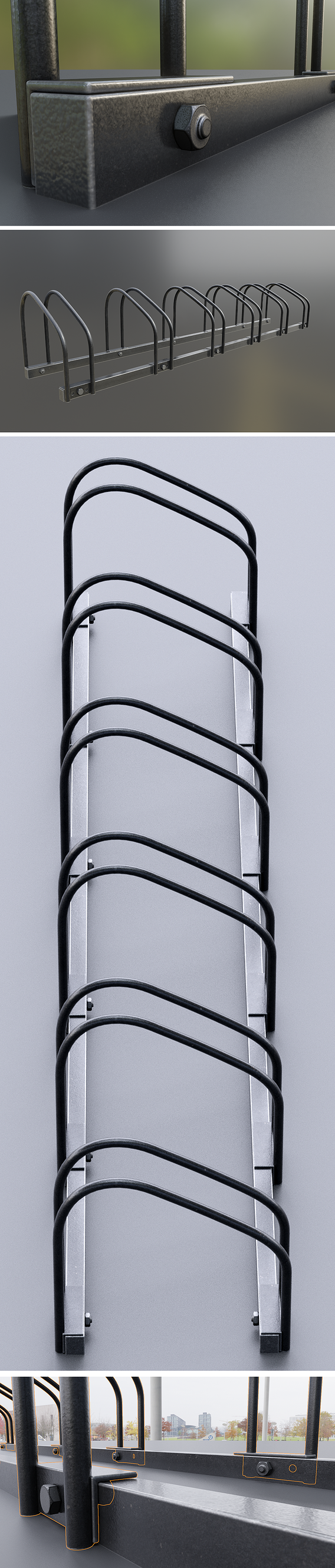 Bicycle Stand [4] (High-Poly Version)