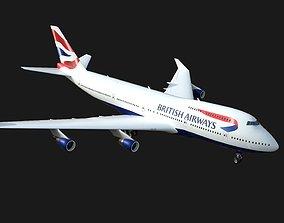 Boeing 747 British Airways 3D