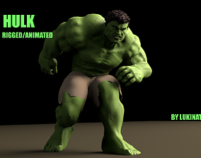 3D model Hulk 2003 Rigged And Animated