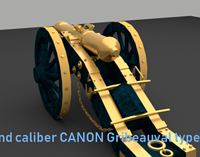 NAPOLEONIC CANNON low poly version 2019 3D model
