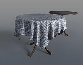 Round Tables With Tablecloth 3D asset