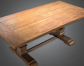 Table 03 Antiques - PBR Game Ready 3D asset