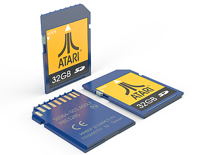 SD card 3D model