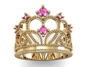 3D printable model fashion ring crown