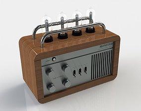 3D model hifi Vacuum Tube Radio