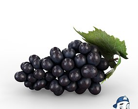3D Blue Grapes