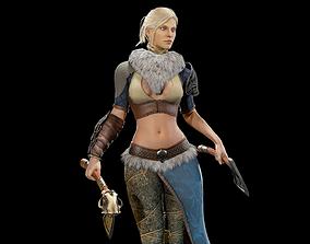 3D asset Viking Girl