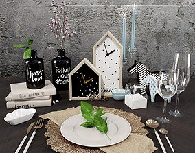 DEKORATIVE SET DECORAHOLIC posuda laying 3D