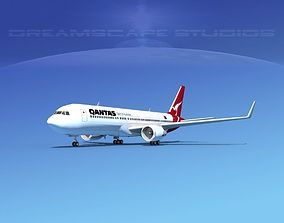 3D model Boeing 767-300 Qantas