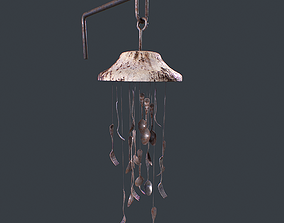 3D asset Windchime Spoons And Fork Animated Breeze