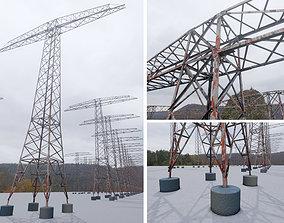 3D asset Transmission Tower 22 Meter Rusty Version