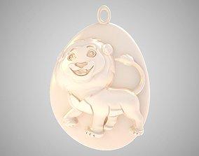 3D printable model Rock Lion Necklace