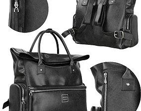 3D model Leather bag Manel Mano