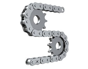 Editable roller chain without deformation along the 3D