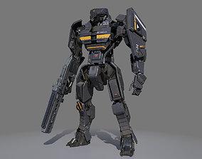 3D Sci-fi soldier