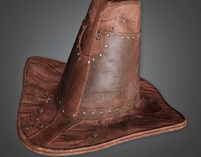 HAT - Witch Hunter Hat - PBR Game Ready 3D asset