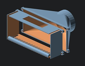 Central Machines portable blower 3D printable model