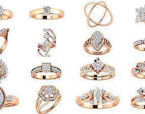 jewel 480 Women ring 3dm render 3D print model