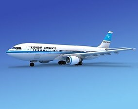 Airbus A-300 Air Kuwait 3D