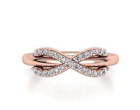 3D print model Tiffany infinity ring with diamonds