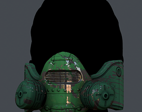 realtime Gas mask helmet 3d model scifi Low-poly 1