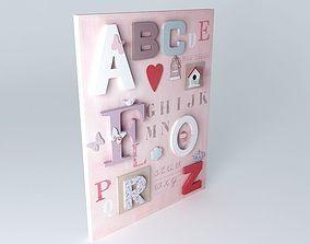 ABC Girl Canvas Houses of the world 3D