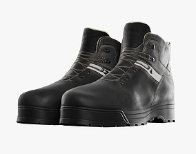 3D model game-ready Leather boots