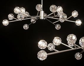 RH BOULE DE CRISTAL ROUND CHANDELIER 60 Nickel 3D model
