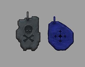 3D printable model Tibia Miniature Runes - SD UH Keychain