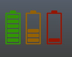 Low poly battery symbol 1 3D asset