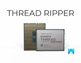 VR / AR ready 2019 AMD Ryzen Threadripper cpu game asset