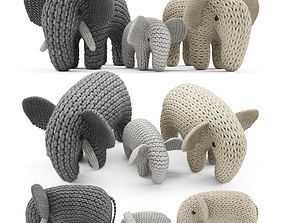 3D model Knitted Elephants Toys
