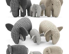 3D model Knitted Elephants Toys