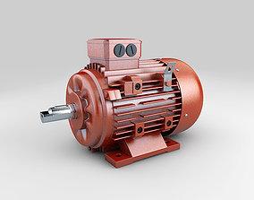 Industrial electric motor generator 3D model