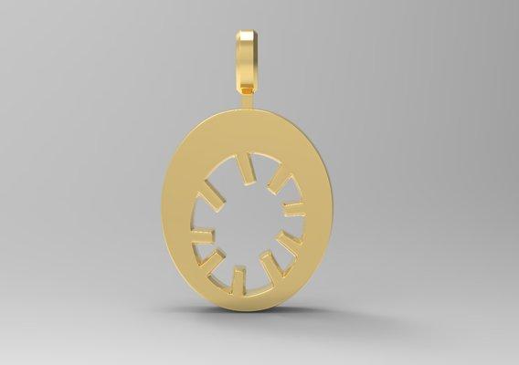 O Letter Pendant Gold