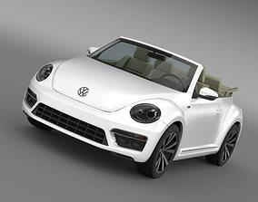 VW Beetle RLine Cabrio 2014 3D model