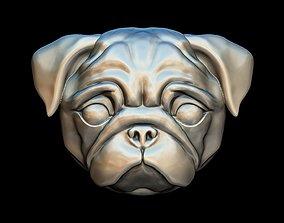 Pug dog pendant 3D printable model