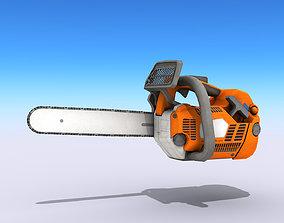 Petrol Chainsaw 3D model