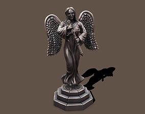 3D asset Statue woman keeper