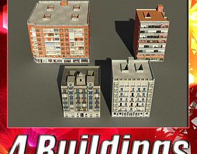 3D asset Building Collection 81-84