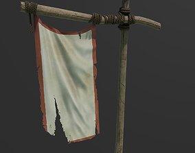 3D asset Medieval Banner