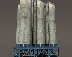 industry Chemical Silos Low Poly 3d Moldel realtime
