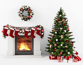 Christmas set various-models 3D model