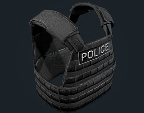 Police Officer Bulletproof Vest Game Ready 3D model