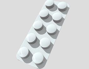 3D asset Pills in blister
